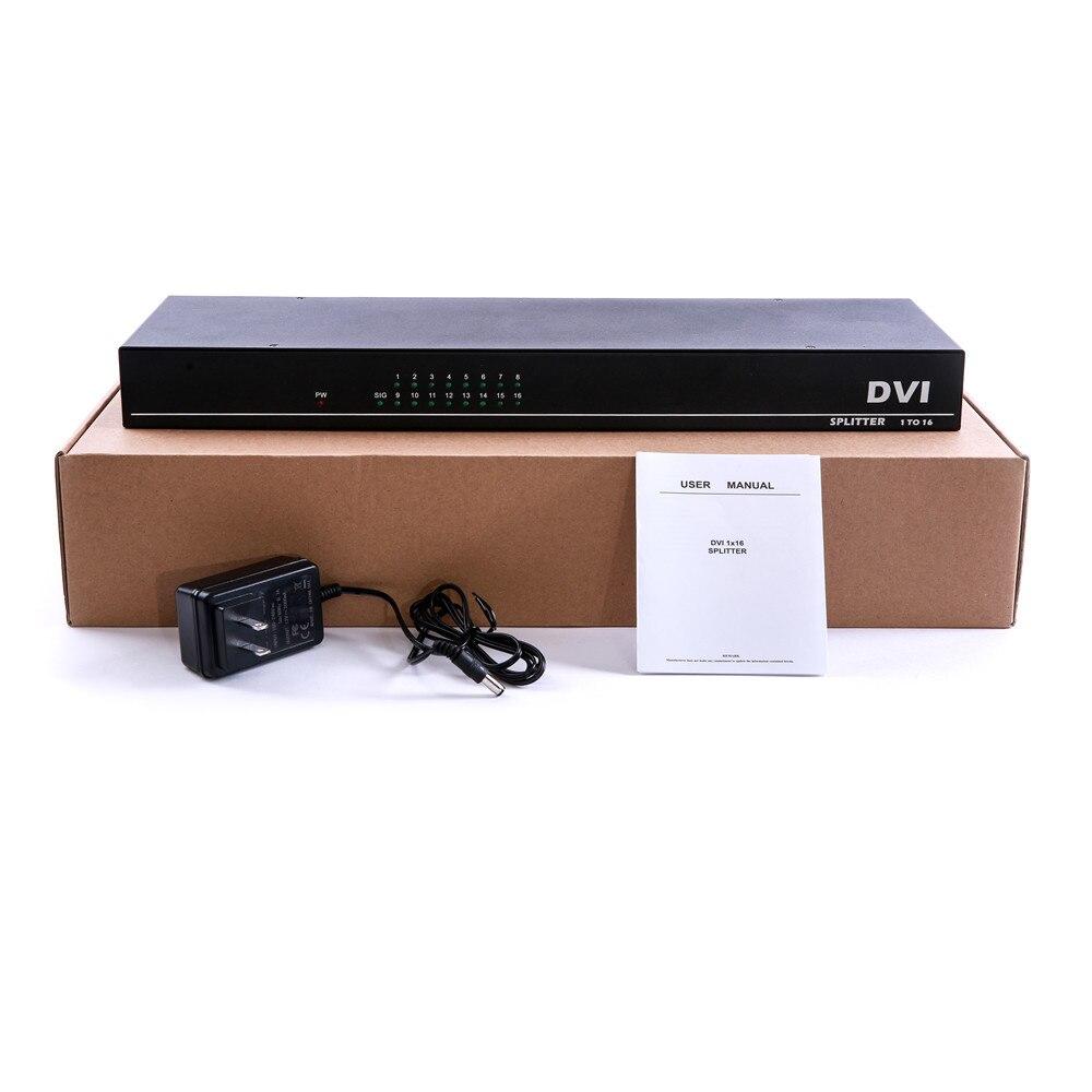 Image 5 - 4K 16 портов разделитель DVI, двойная связь DVI D 1X16 разветвитель адаптер дистрибьютор, разъем 4096x2160 5V питания для CCTV HDCamera