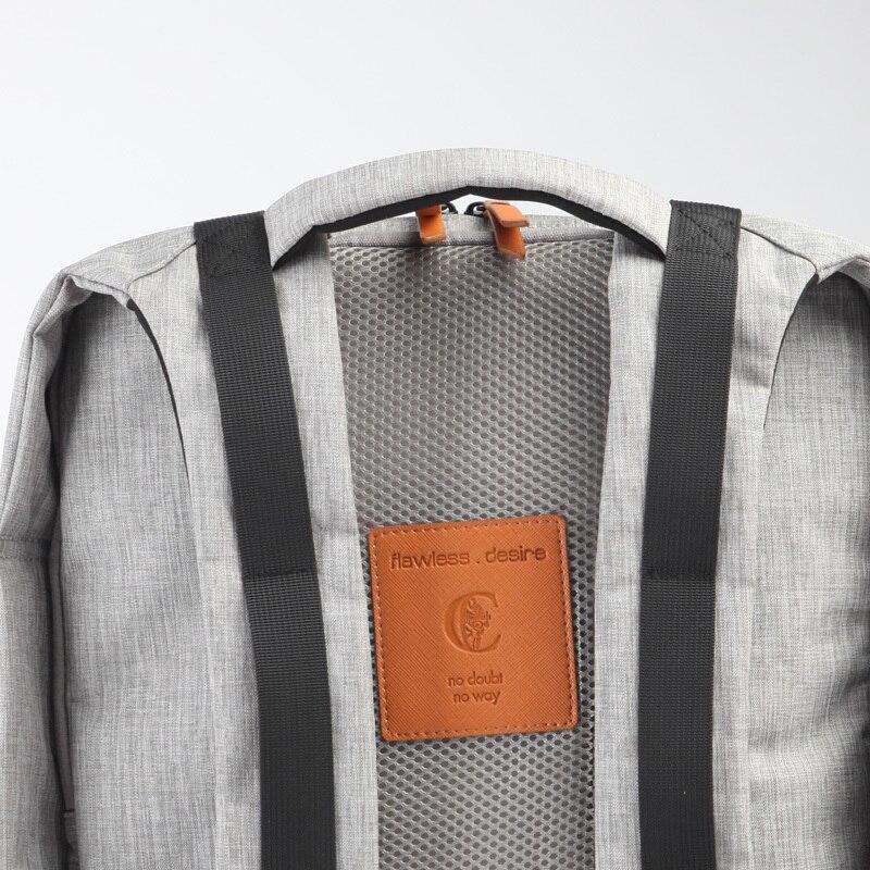 BAOERSEN женский винтажный рюкзак школьный рюкзак из воловьей кожи Повседневная сумка большой емкости женская кожаная дорожная сумка - 4