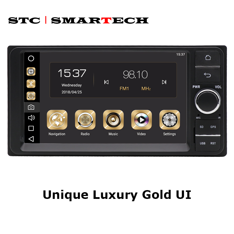 SMARTECH 2Din Android 8.0 Octa Core 4GB RAM 32GB ROM 7inch Car DVD Radio GPS navigation For Toyota Corolla Hilux Camry Prado-in Car Multimedia Player from Automobiles & Motorcycles    2