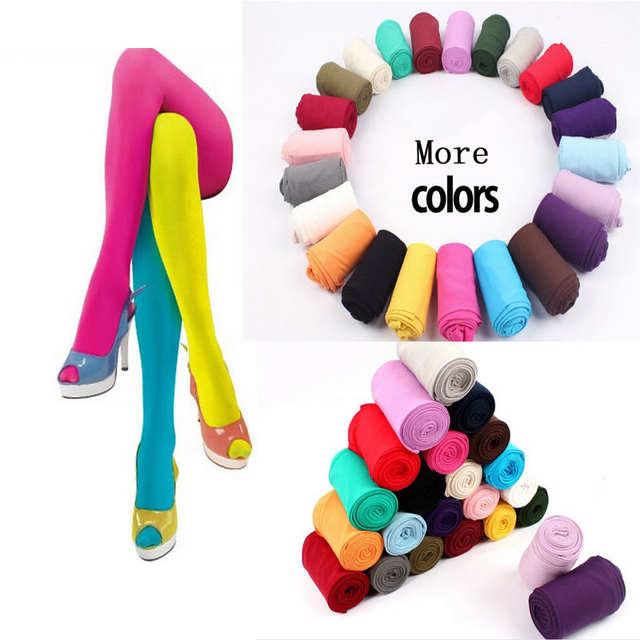 c72dba08d placeholder Moda Colorida Mulheres Sexy Meia-calça Meias De Nylon meias  Passo Pé Meias Sem Costura