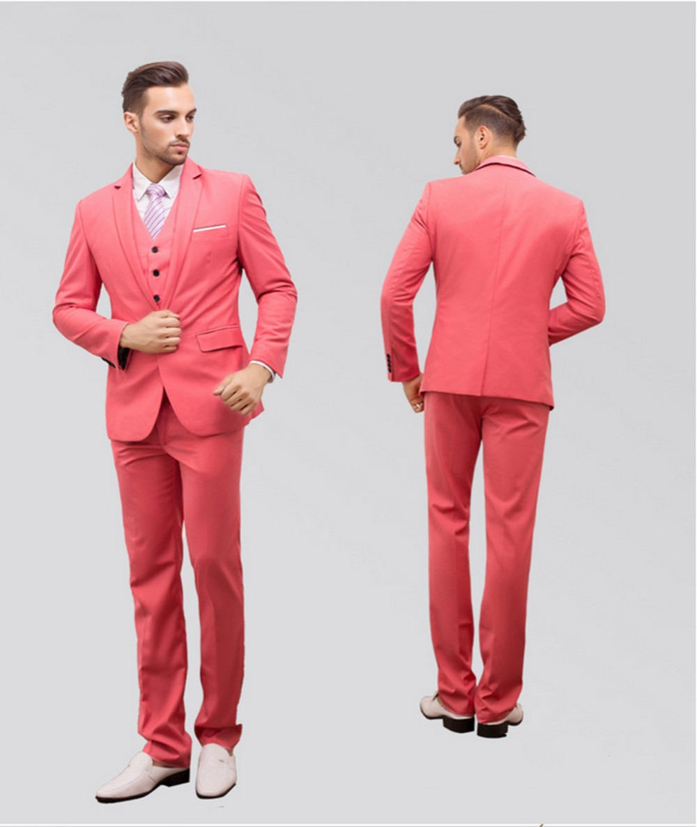 340b30e57f32 New Groom wine red pink white Tuxedos latest coat pant designs Mens Prom  Suits Wedding men Suit Best Man( jacket+Pants+vest+tie)-in Suits from Men's  ...