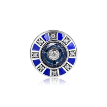 2019 New Jewelry Mosaic Blue Bead Pendants 925 Sterling Silver original Charm Fit beads Bracelets Making dark blue leather bracelets and necklaces for women jewelry making fits european bead charm 925 sterling silver starry sky clasp