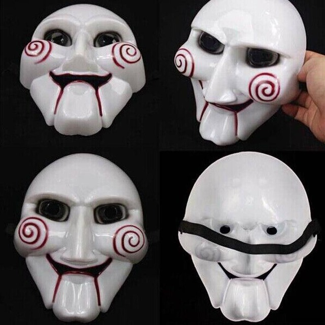 20 Unids Lote Blanco Horror Saw Mascara De Halloween Mascarada