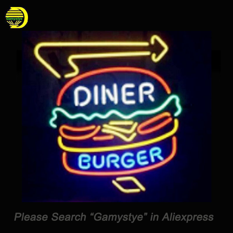 Neon Sign For Diner Burger neon beer sign wITH ARROW unique neon sign art Handcrafted supplied for a wide range of personal lamp