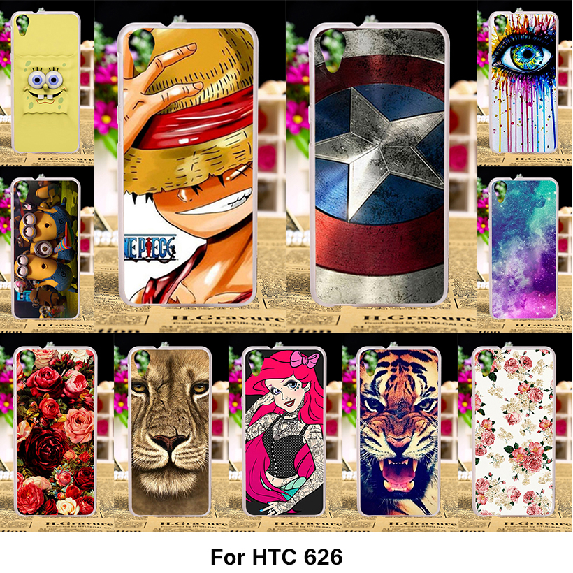 Painted Phone Covers Cases For HTC Desire 626 650 628 A32 626w 626D 626G 626S Case Cover Hard Plastic Soft Silicone Housing Bags