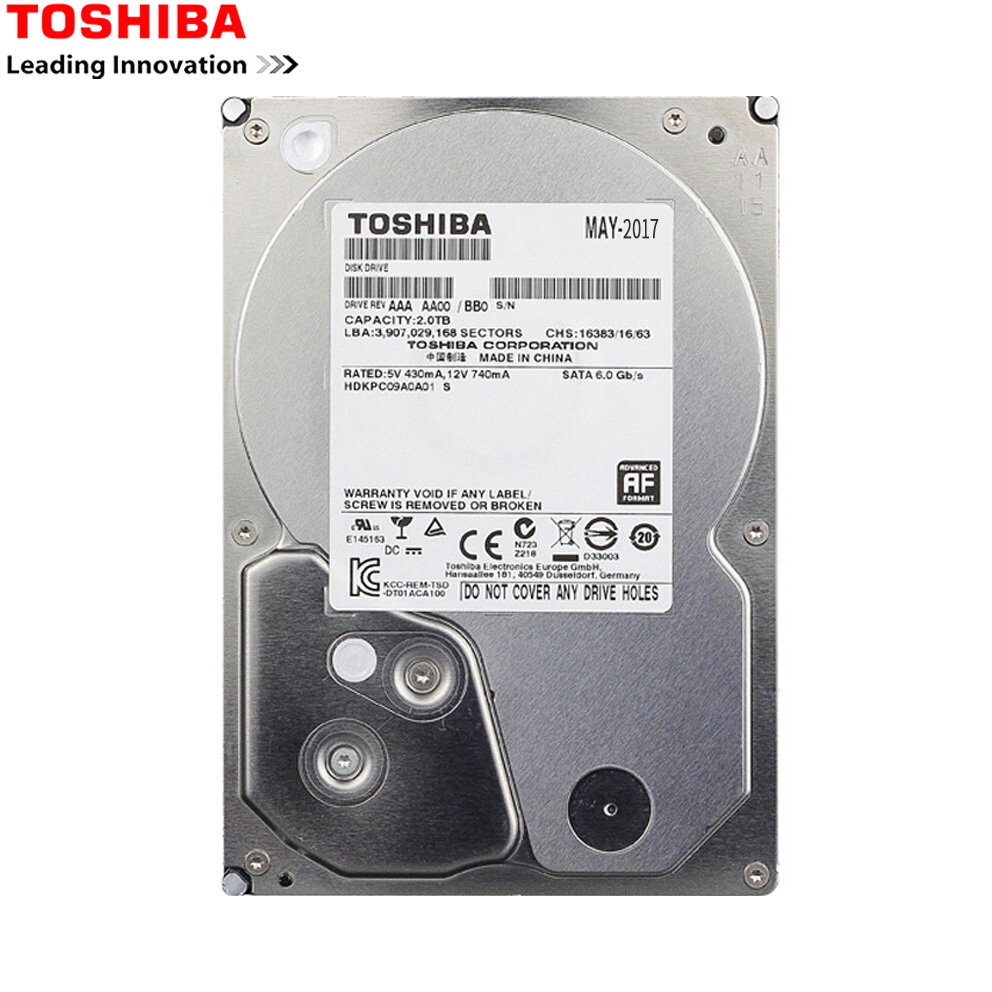 "TOSHIBA HDD 3.5 1 tb SATA Hard Disk da 1000 gb 1 t Disco Duro Interno Interno HD HDD 7200 RMP 32 m 3.5 ""SATA 3 per il Calcolatore Del PC"