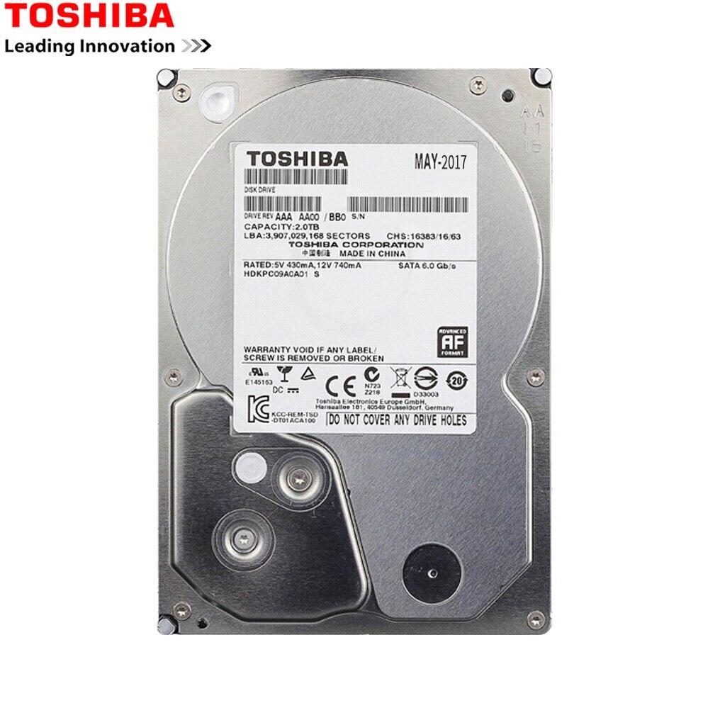 "TOSHIBA HDD 3.5 1 to SATA disque dur 1000 GB 1 T Disco Duro Interno interne HD HDD 7200 RMP 32 M 3.5 ""SATA 3 pour ordinateur"