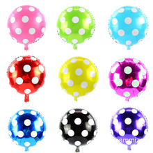 10pcs 18inch Colorful Candy Foil Balloons dot polka Helium Balloon Baby Shower Birthday Wedding Party Supplies Decor Kids Toys