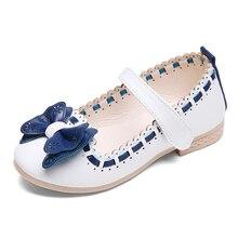 2017 Bébé Filles En Cuir shoes Enfant Filles Sandales Shoes Pour Les Filles Papillon-Noeud En Cuir Princesse Chaussures Enfants Arc En Cuir Shoes