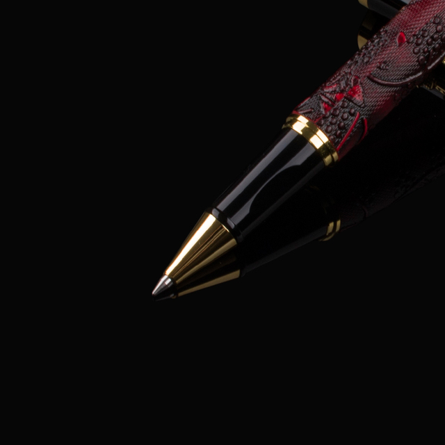 Luxury New brand classic red Leather grape pattern roller ball pen classic pen stationery Hot sell 4