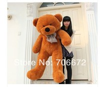 New stuffed dark brown teddy bear Plush 200 cm Doll 78inch Toy gift wb8462