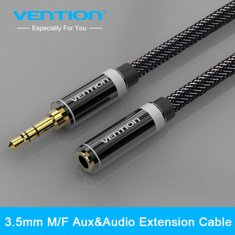 Vention 3.5mm Jack Male to Female Audio Stereo Aux Extension Cable 0.5m/1m/1.5m/2m/3m/5m For iPhone iPod Car Headphone AUX Cable