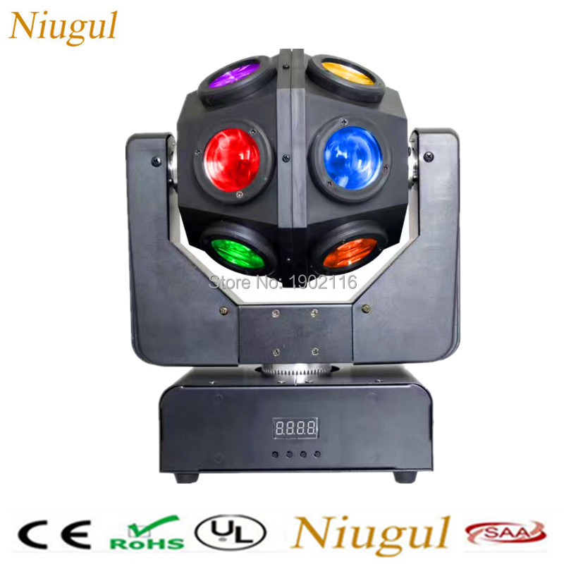 High brightness 12X10W LED beam moving head RGBW 4in1 Infinite beam lights DMX512 Unrestricted rotation light for disco dj party