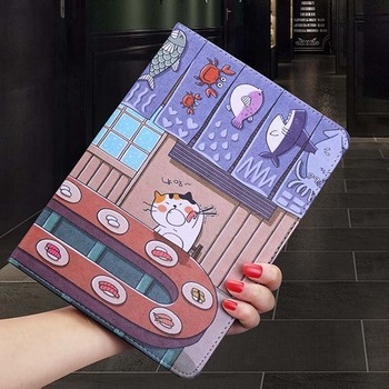 Fashion Case For Ipad 2017 2018 PU Leather Shockproof Cartoon Stand Magnetic Smart Cover ipad Air 1 2 Pro 9.7