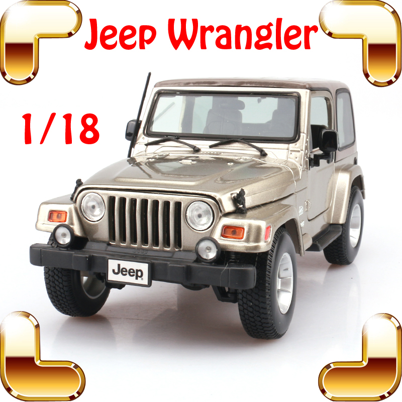 цена на New Year Gift Jeep Wrangler Sahara 1/18 Model Metal Jeep Vehicle Scale Simulation Toys Alloy Car Collection Large SUV Die-cast