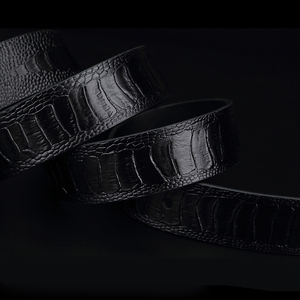 Image 5 - Gfohuo Luxe Alligator Grain Mannen Riem Pin Gesp Lederen Riem Voor Mannen Vintage Man Voor Mannen Riem Cinto Macho