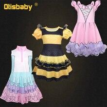 Lovely Girls Cartoon Lol Dress Fantasy Sleeveless Princess Tutu Birthday Party Rainbow Kids Up Costumes