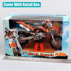 Image 5 - Motocicleta KTM 250 SXF red bull n. ° 38 modelo de Motocross, motocicleta de escala 1:12, motocicleta fundido a presión, modelo redbull, bicicleta de carreras, miniaturas de juguete
