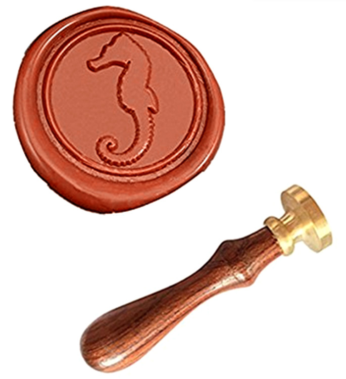 MDLG Hippocampus Vintage Custom Picture Logo Luxury Wax Seal Sealing Stamp mdlg hippocampus vintage custom picture logo luxury wax seal sealing stamp
