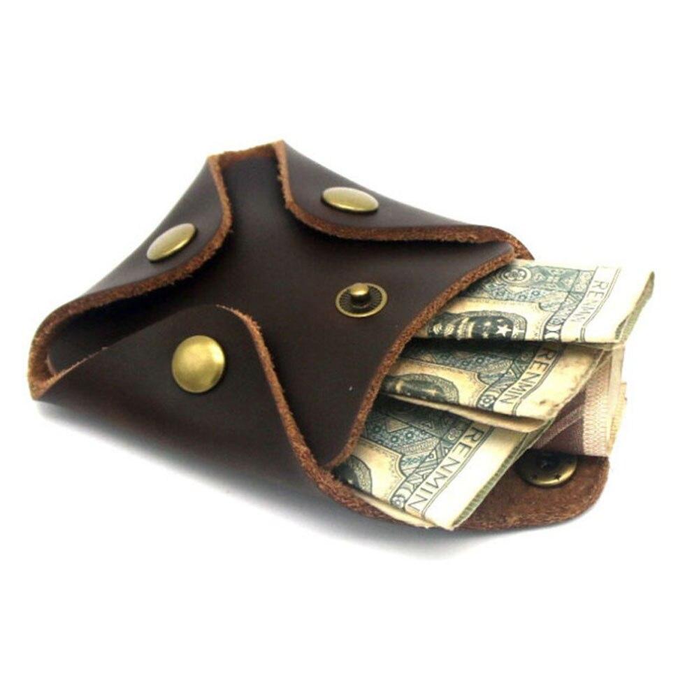 2019 Koreanische Brieftasche Kurze Vintage Leder Geldbörse Männlichen Frau Kleine Mini Geld Tasche Geldbörsen Lagerung Tasche Monedero Portemonnee