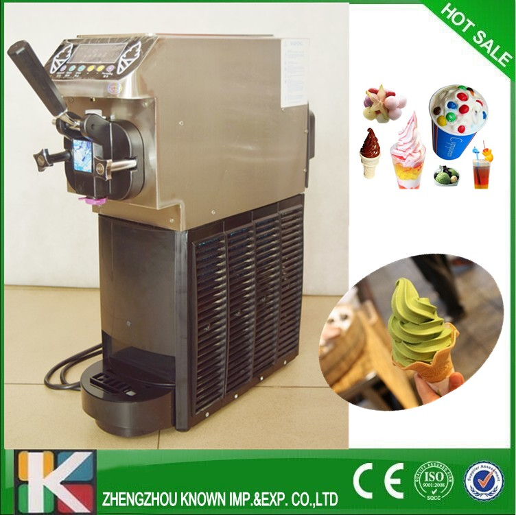 Small Soft Ice Cream Machine Commercial Soft Serve Ice