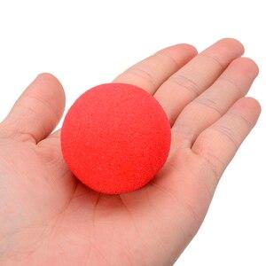 Image 5 - Boule rouge Adorable boule rouge en éponge Super douce pour fête magique, pour tour de scène, accessoire nez Clown 10 pièces 4.5cm