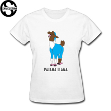 SAMCUSTOM cute llama T-shirts for Women Harajuku Funny Product Tops Lady Casual Short Sleeve T-Shirt Tops free shipping