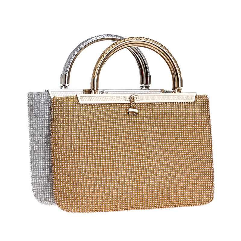 SEKUSA, Женский мягкий клатч, вечерние сумки, стразы, свадебные сумки, бриллианты, цепь, на плечо, золотые, серебряные, вечерние сумки