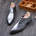 2016 new shiny pointed shoes men's personality nightclub male silver lace trend men genuine leather Oxford flats shoes