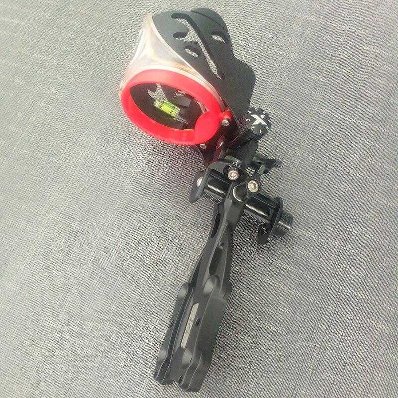 1 Set Adjustable Archery Compound Bow Sights 0.019mm/5 pins Optical Fiber Micro Optic Sight Laser LED Light Archery Accessory