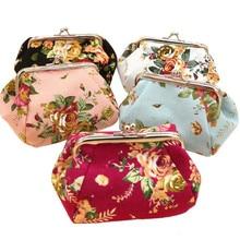 Women Lady Retro Vintage Flower Small Wallet Hasp Purse Clutch Bag Fashion Casual Women Wallet Mini Coin Purse Gift Carteira