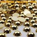Frete grátis 1440 pcs ss3 ouro metade pérolas Flatback não Hotfix strass pérola de artes 1.5 mm 2 mm 3 mm 4 mm 5 mm 6 mm 8 mm