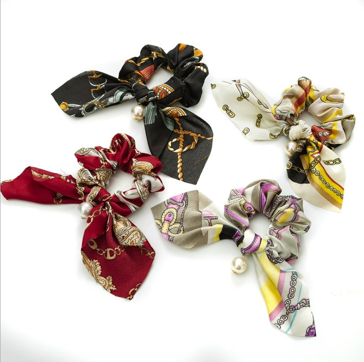 1pcs Bohemia Elastic Hair Bands For Women Girls Geometric Hair Ropes Scrunchies Ponytail Hair Female Girl Holder Headwear