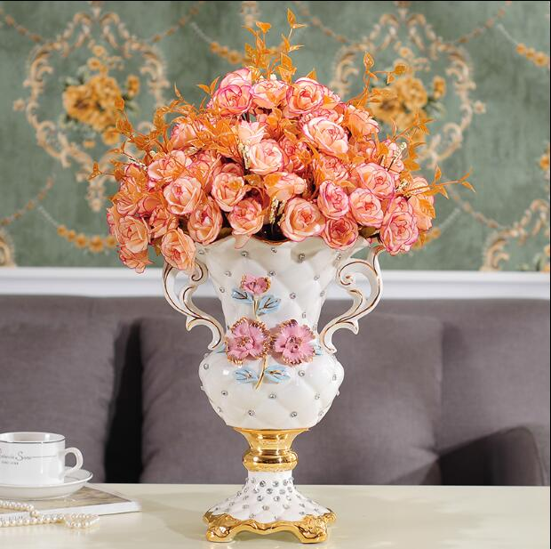 European-style ceramics creative landing large vase luxury decorations