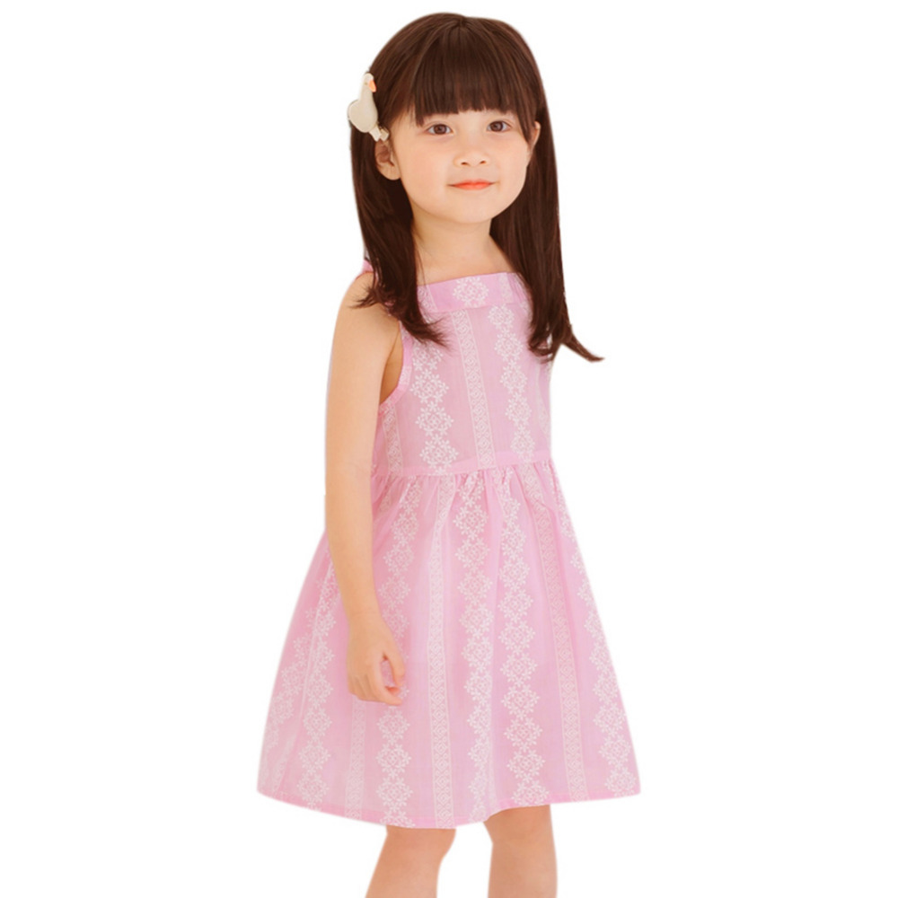 a972639212f Girls Pink Summer Cute Dresses Kids Girls Sleeveless Lace Princess Party Dress  Girls Lovely Dress Children