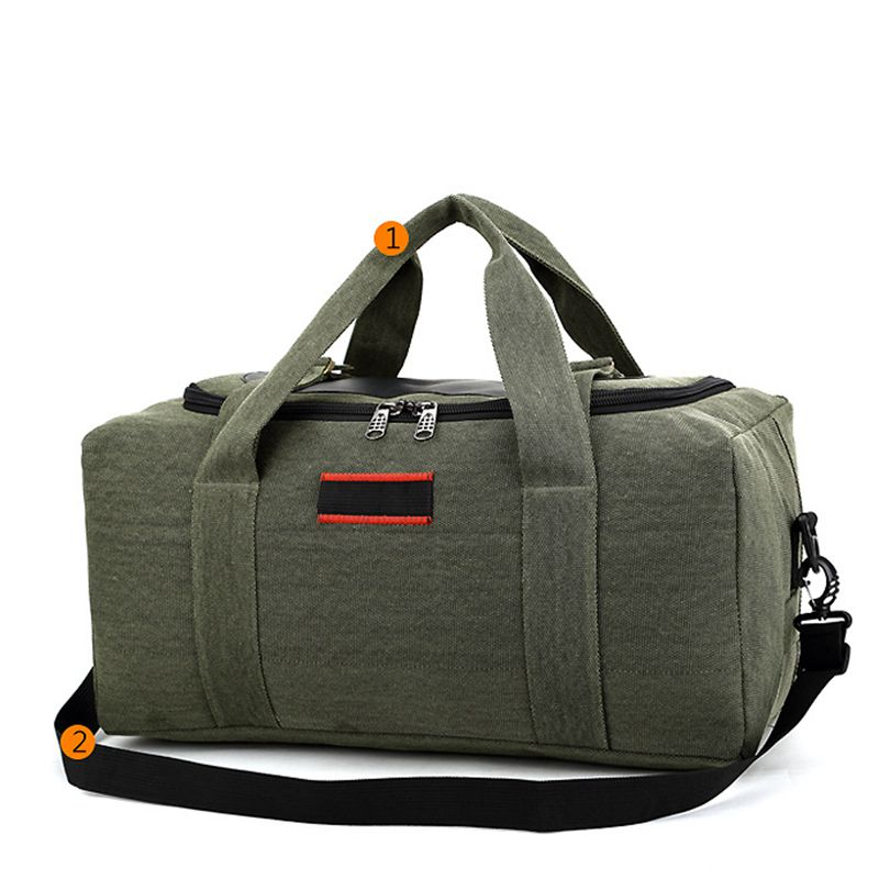 Waterproof Canvas Men Travel Bags Carry On Luggage Bags Men Duffel Bag Travel Tote Large Weekend Bag Overnight High Capacity