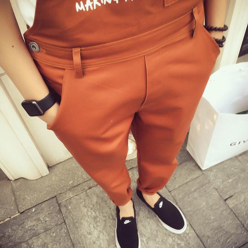 2017 Mens Fashion Bib Denim Work Overalls Blue One Piece Jumpsuits For Men Suspender Jeans Pants With Cargo Pockets