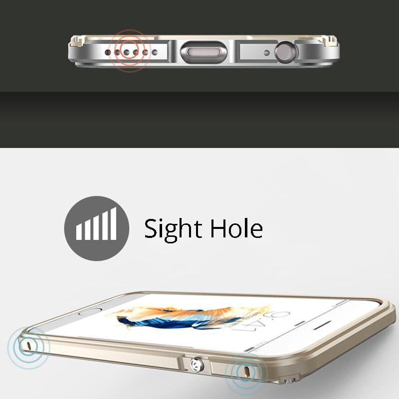 Cubierta de parachoques de metal para iPhone 6 Funda de aluminio para - Accesorios y repuestos para celulares - foto 3