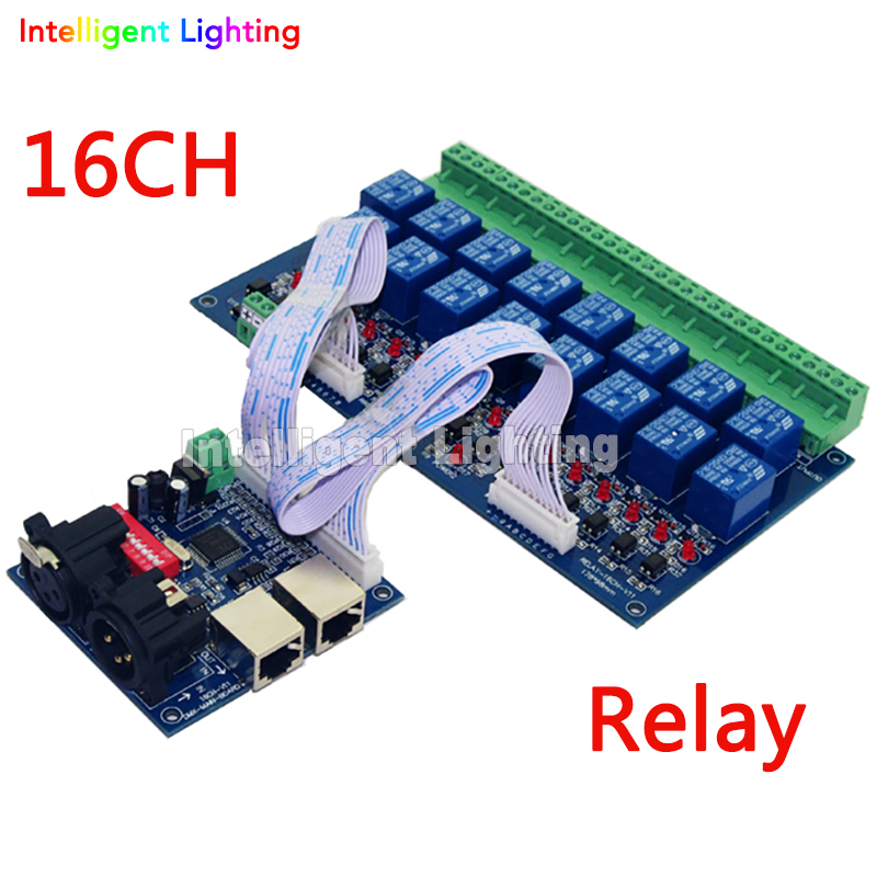 16CH Relay switch dmx512 Controller relay switch dmx512 controller 16ch relay switch switch - title=
