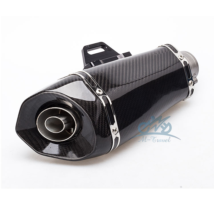 Universal 36-51MM Motorcycle exhaust escape Modified Scooter carbon fiber Exhaust muffler Fit for z900 ktm390 zx6r s1000rr R3