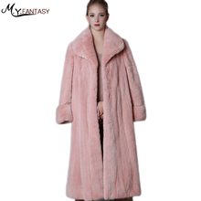 Купить с кэшбэком 2017new mink coats women pink Plus Size real natural  woman's winter jackets Exquisite high-end 100% genuine Thick Warm fur coat