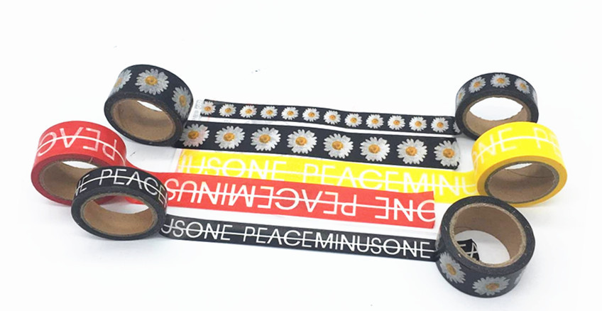 NEW!G-Dragon same Style M.O.T.T.E g-dragon GD peaceminusone PMO sticker tape black and red tape