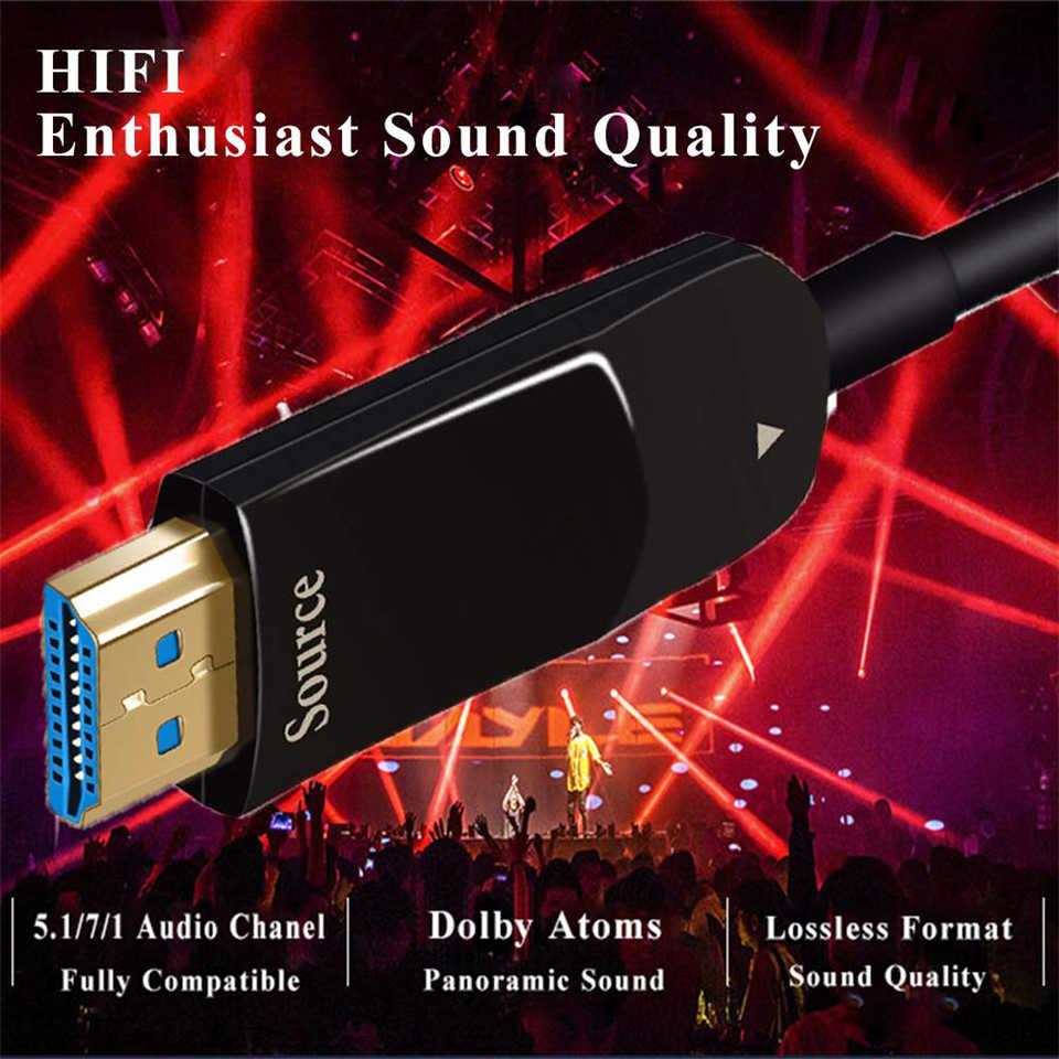 2019 Real 48 Gbps HDMI 2.1 Kabel 8 K HDMI 2.1 Kabel Serat Optik Dolby UHD 2.1 Kabel HDMI 5 M 10 M 20 M RGB 4:4:4 Cabo HDMI 2.1 4 K