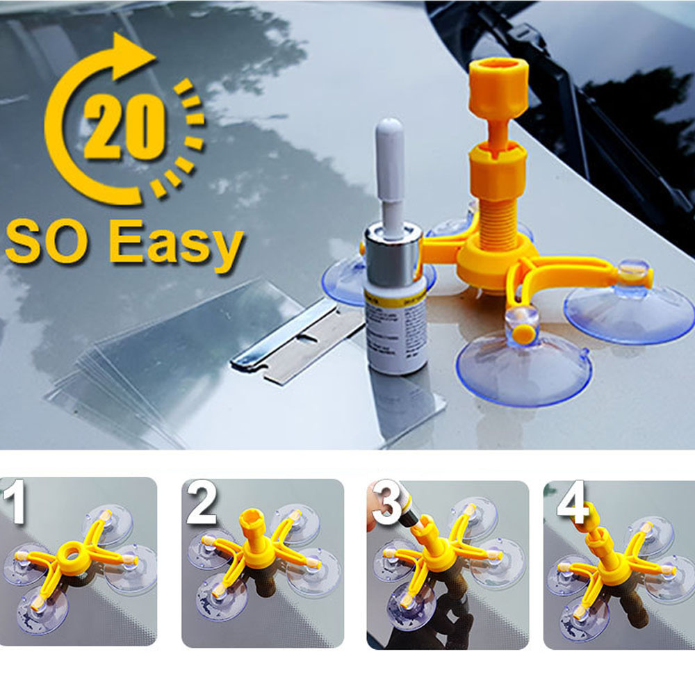 Car Window Repair Tools Windshield Repair Kits DIY Auto Glass Windscreen Repair Glass Scratch Crack Restore