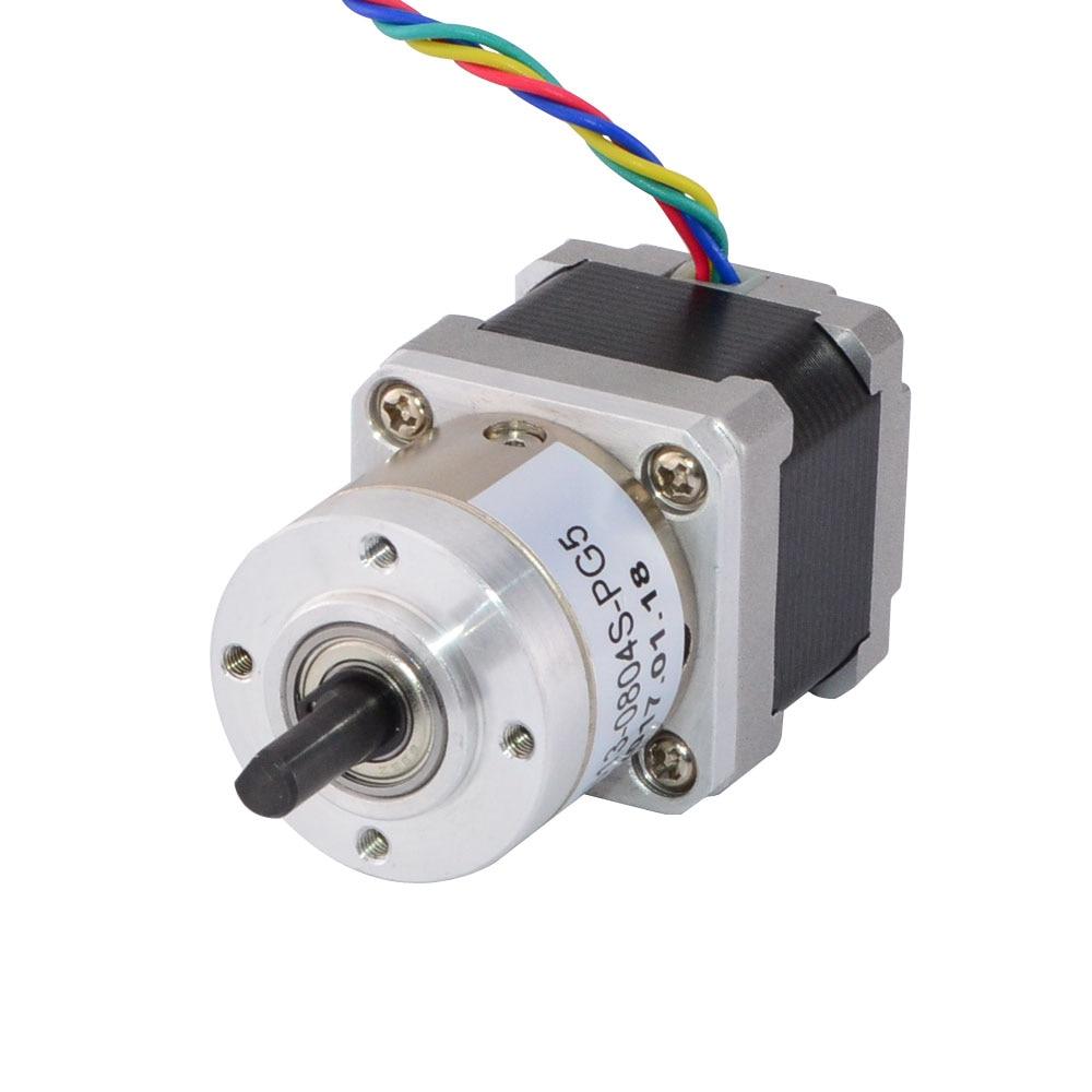 Nema 14 Stepper Motor Bipolar L=33mm w/ Gear Ratio 5:1 Planetary Gearbox nema 17 gear stepper motor l 26mm with planetary gearbox ratio 40 1