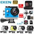 Novo 100% original eken h9/h9r ultra hd 4 k câmera de ação 30m à prova dwaterproof água 2.0 screen tela 1080p esporte câmera ir extrema pro cam