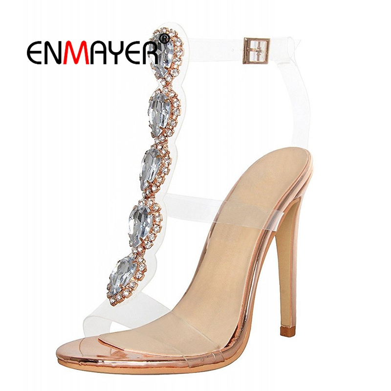 ENMAYER High Heels Sandals  Gladiator  Casual  Shoes Woman  Woman Sandals 2018 Summer Big Size 35-43 LY503ENMAYER High Heels Sandals  Gladiator  Casual  Shoes Woman  Woman Sandals 2018 Summer Big Size 35-43 LY503