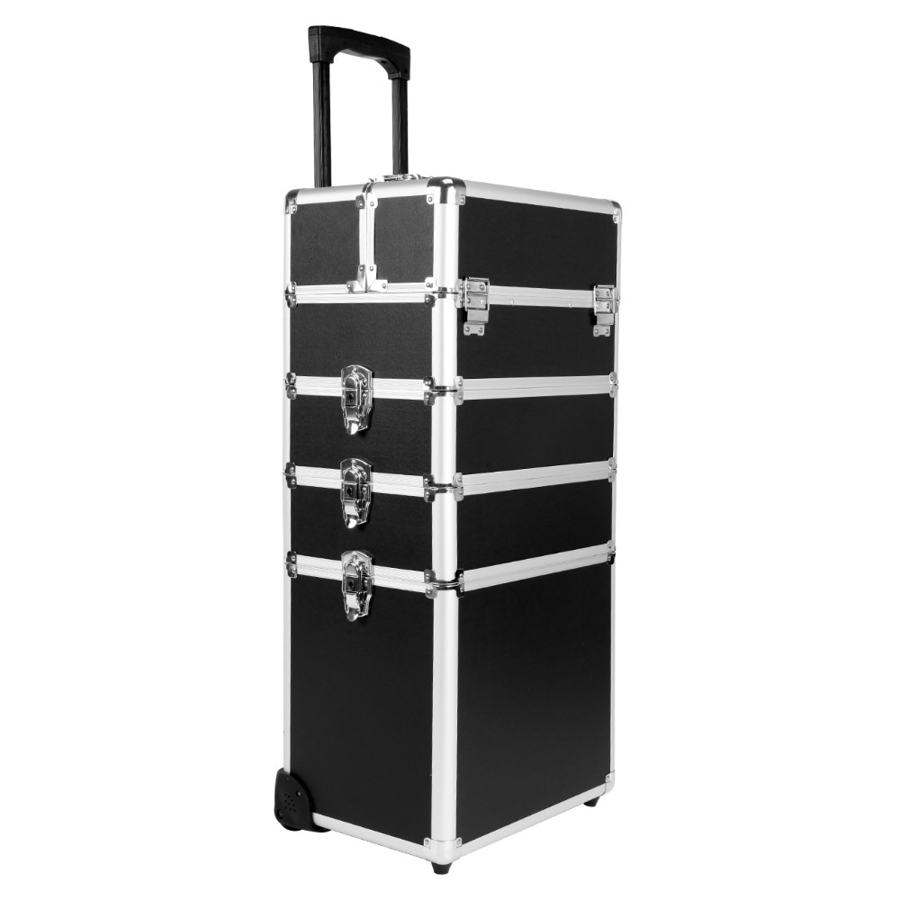 5 in 1 Hairdressing Makeup Beauty Case Nail Art Box Cosmetics Trolley case with wheels