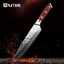 XITUO 2018 Nový damaškový nůž 8 palců Profesionální šéfkuchařský nůž 67 vrstev japonského damaškové oceli VG-10 Čepele kuchyňské nože kování