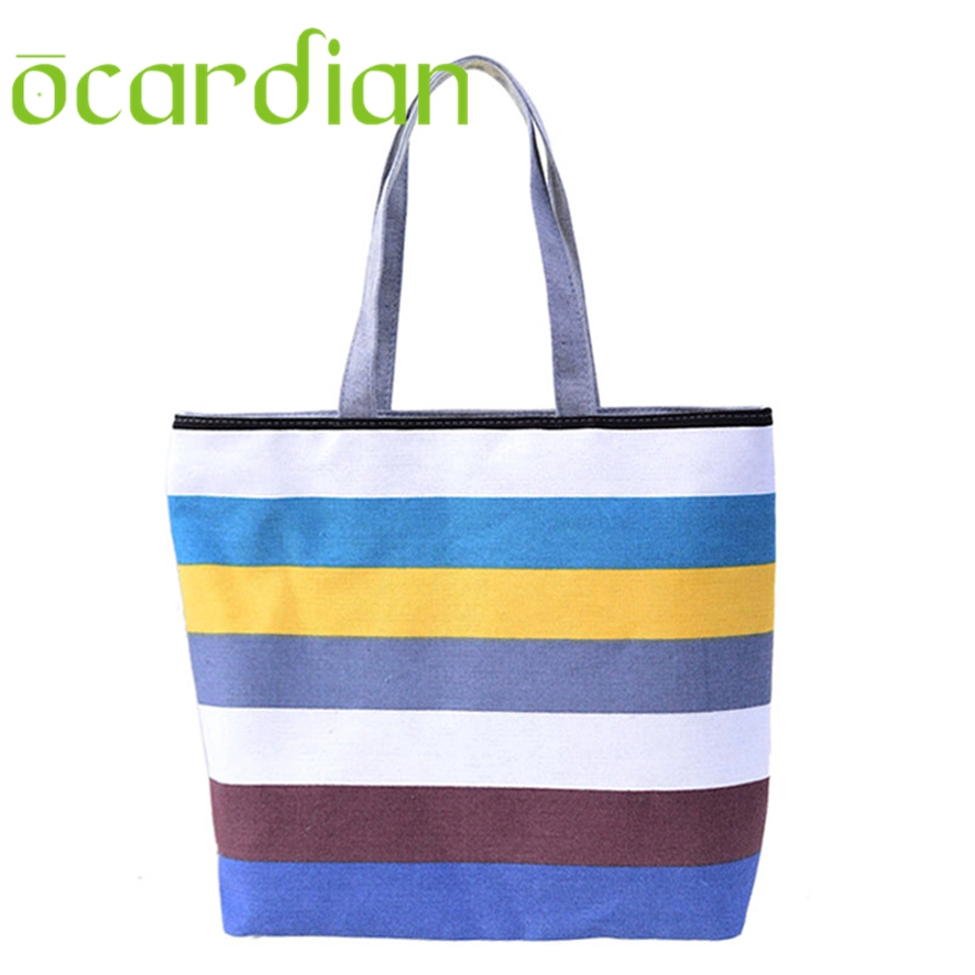 OCARDIAN New Fashion Summer Canvas Women Beach Bags Color Printing ...